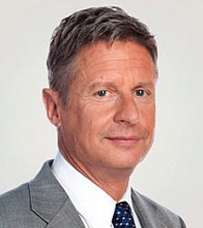 Gary Johnson stumbles